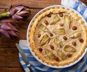 Crostata di carciofi e olive (vegan)