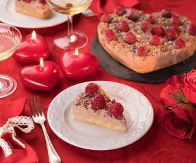 Cuore di cheesecake ai lamponi