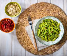 Pasta al pesto di rucola e pomodori secchi (senza glutine)
