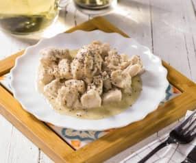 Pollo al vino bianco e farina integrale di grano saraceno