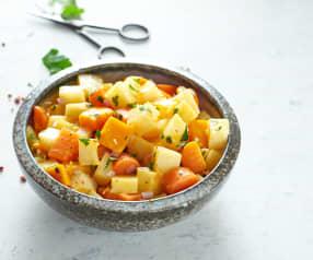 Salade de légumes à la vapeur