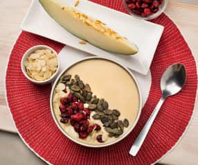 Smoothie bowl de melón y melocotón
