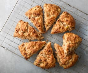 Apple and Maple Syrup Bacon Scones