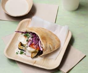 Pita vegetariana israelí (sabich)