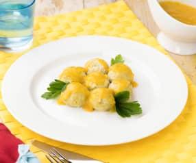 Polpette di pollo al Varoma in salsa delicata