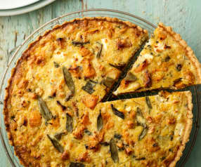 Butternut Squash, Sage and Hazelnut Tart