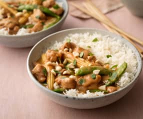 Thai Peanut Chicken with Coconut Rice