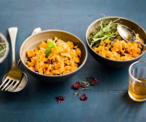 Salade asiatique de carotte, canneberges et coriandre