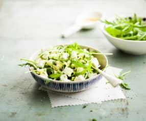 Salade de courgette et pomme verte