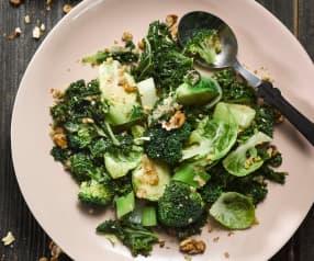 Zimní zelenina s oříškovým máslem