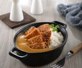 咖哩醬豬排飯