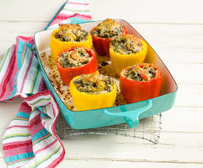 Turkey and Wild Rice Stuffed Peppers