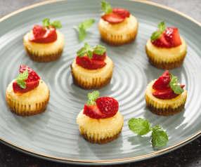 Mini cheesecaky s jahodami