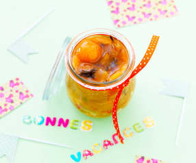 Confiture de mirabelles au thé vert