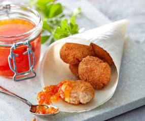 Hähnchennuggets mit Melonenchutney
