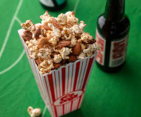 Spicy Nuts and Popcorn Mix