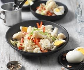 Karfiol-Ei-Salat mit Senfdressing