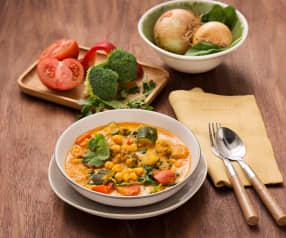 Curry de garbanzos y verduras