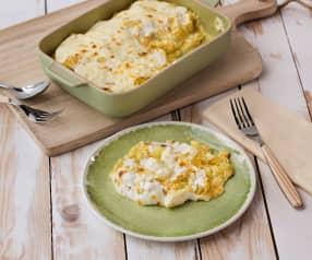Patatas y verduras gratinadas