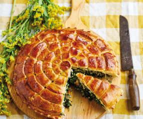 Pão com espinafres e ovo