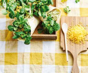 Wraps de frango e abacate