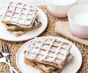 Waffle mele e cioccolato