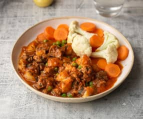 Minted Lamb Casserole with Steamed Vegetables