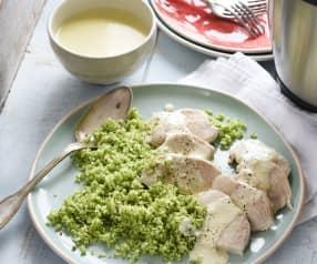 Poulet sauce Alfredo au brocoli