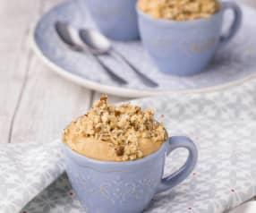 Mousse al caffè con granella di nocciola