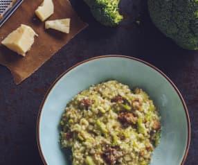 Risotto ai broccoli e salsiccia