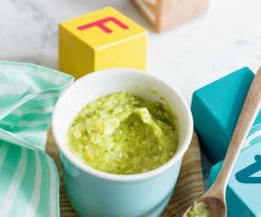 Mousseline d'asperges et de dinde - recette pour les petits