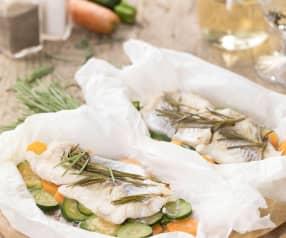 Merluzzo e verdure in bellavista al rosmarino