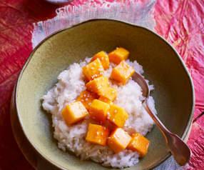 Kokosmilchreis mit Mango-Topping