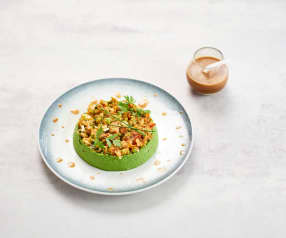 Guacamole de petits pois, tartare de légumes au citron vert (Pascal Favre d'Anne)