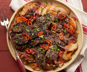 Grilled Korean Short Ribs with Apples