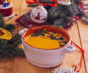 Crema di patate dolci con arachidi e coriandolo