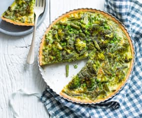 Quiche légère aux légumes verts