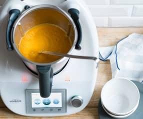 Soupe de chou-fleur et poireau au paprika