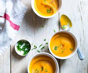 Soupe de lentilles corail aux panais et carottes