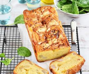 Cake au camembert et à la poire