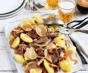 Bœuf au pain d'épices et pommes vapeur