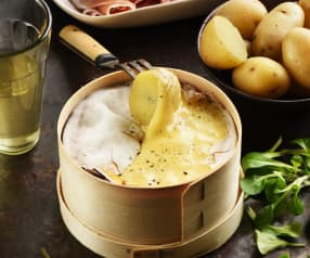 Fondue-raclette au mont-d'or