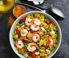 Riz espagnol aux fruits de mer
