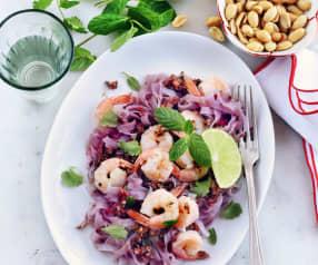 Salade vietnamienne, crevettes et nouilles