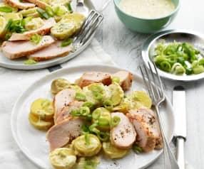 Salade de pommes de terre au poulet