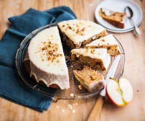 Gâteau courge, pomme et flocons d'avoine