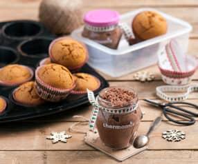Muffiny piernikowe i nocna owsianka z masłem orzechowym i kakao
