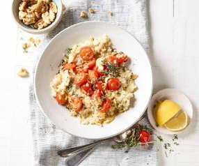 Walnuss-Risotto mit gebackenen Tomaten