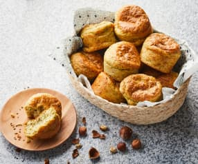Muffins courgette, cottage cheese et noisettes