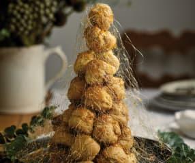 Árvore de Natal de profiteroles